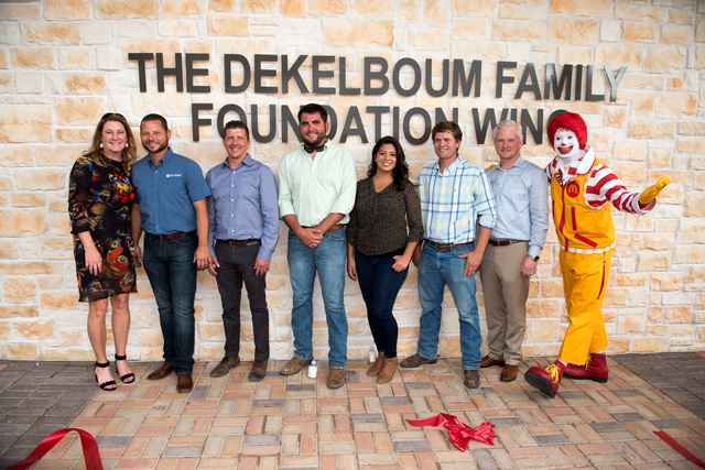 Hill & Wilkinson team - Cynthia O'Brien, Chad Anderson, David Regelean, Thomas Pipes, Stephanie Hernandez, Joey Viviano, Ty Walton, Ronald McDonald